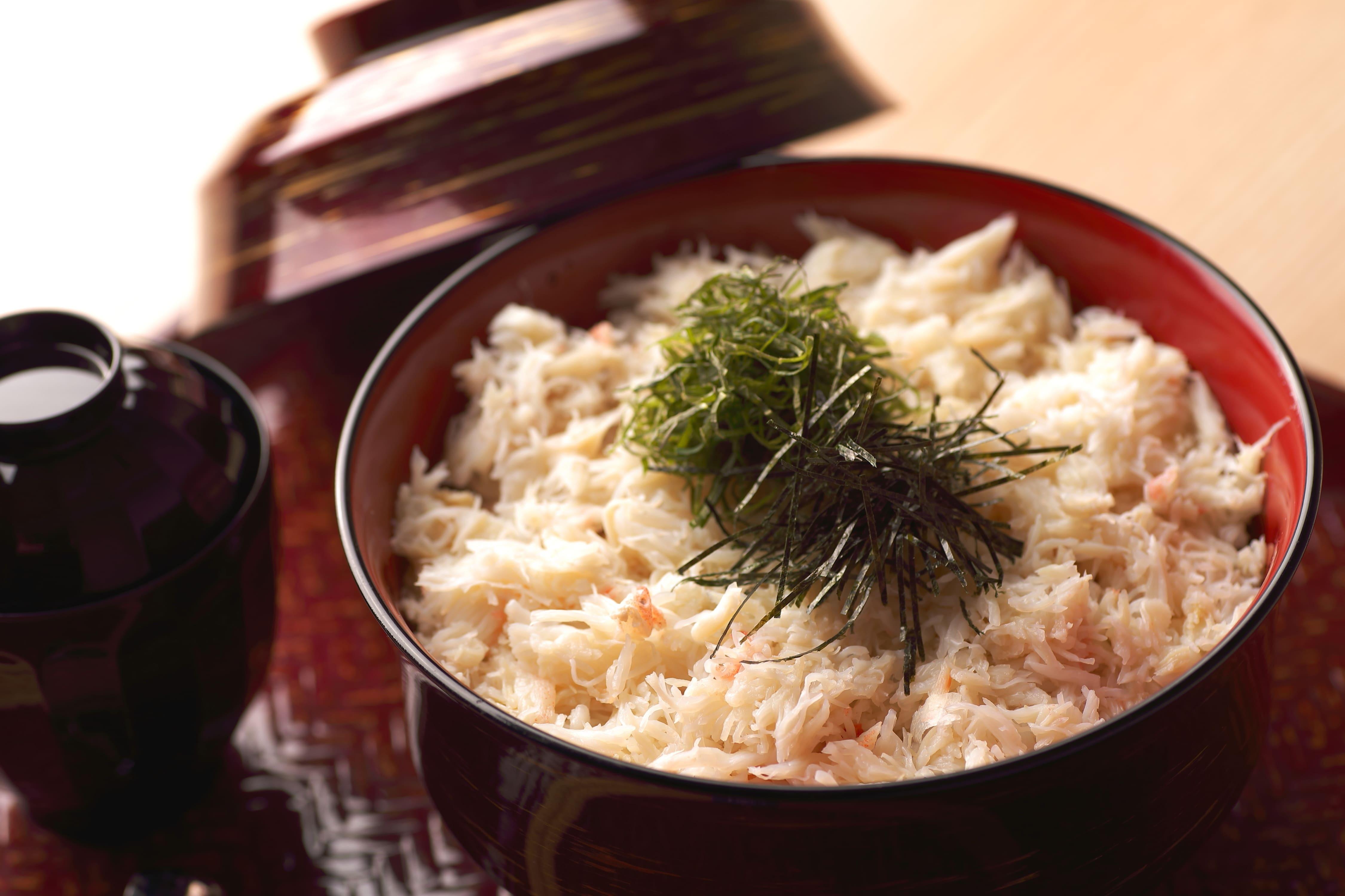 季節のお料理「蟹丼」+天然温泉入館料