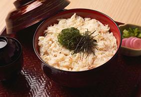 ご入館+季節限定メニュー「蟹丼」
