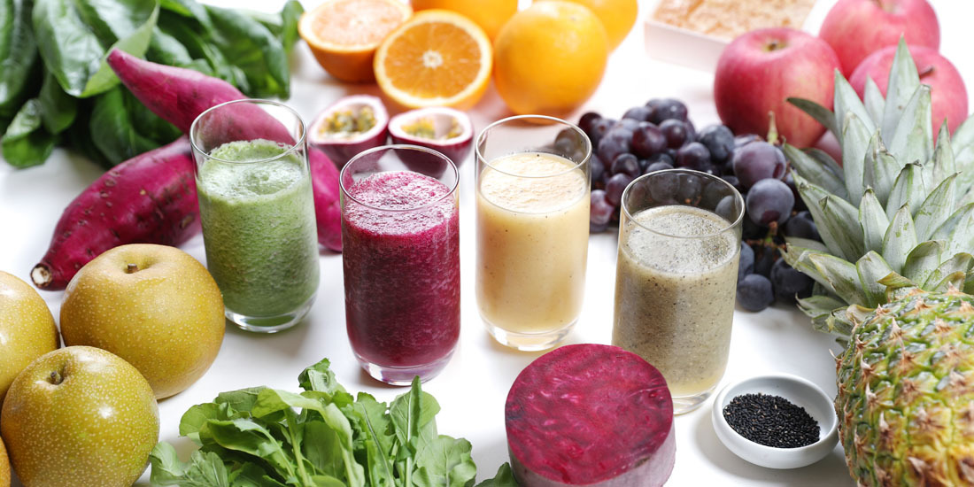 フレッシュフルーツと野菜のジュース(9~10月)