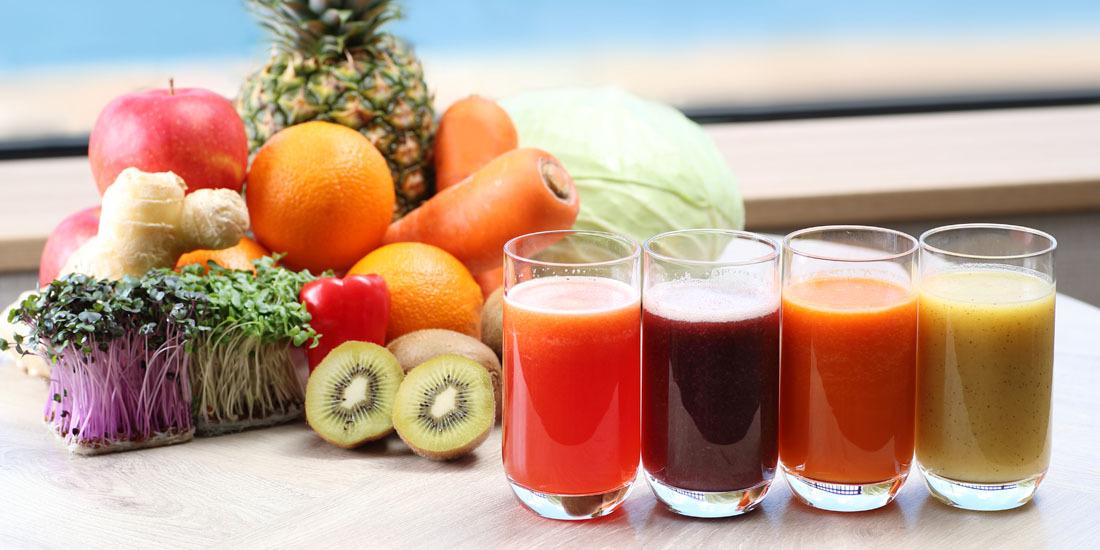 フレッシュフルーツと野菜のジュース(1~3月)