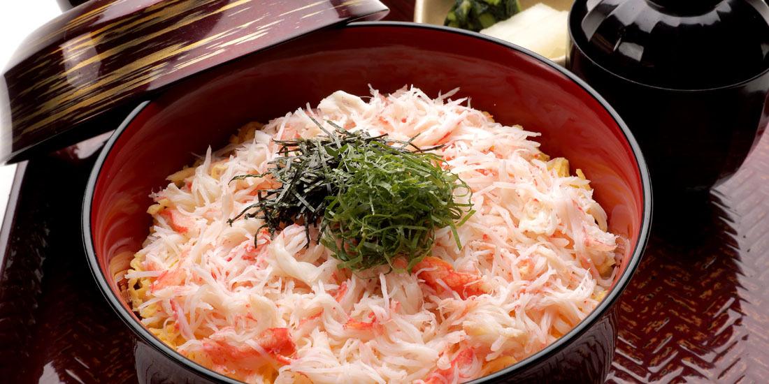 季節限定メニュー「蟹丼」