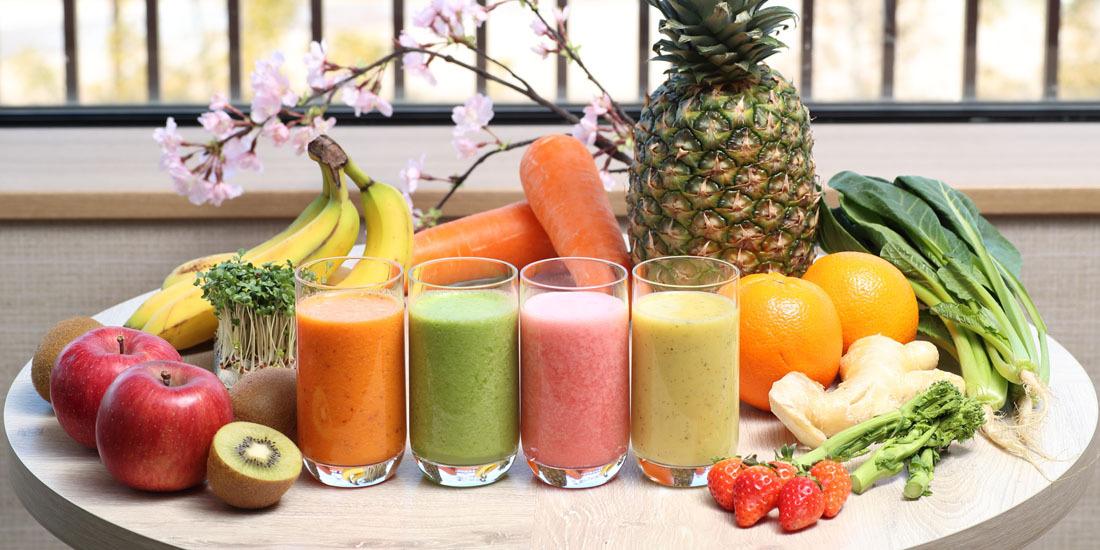 フレッシュフルーツと野菜のジュース(4~5月)