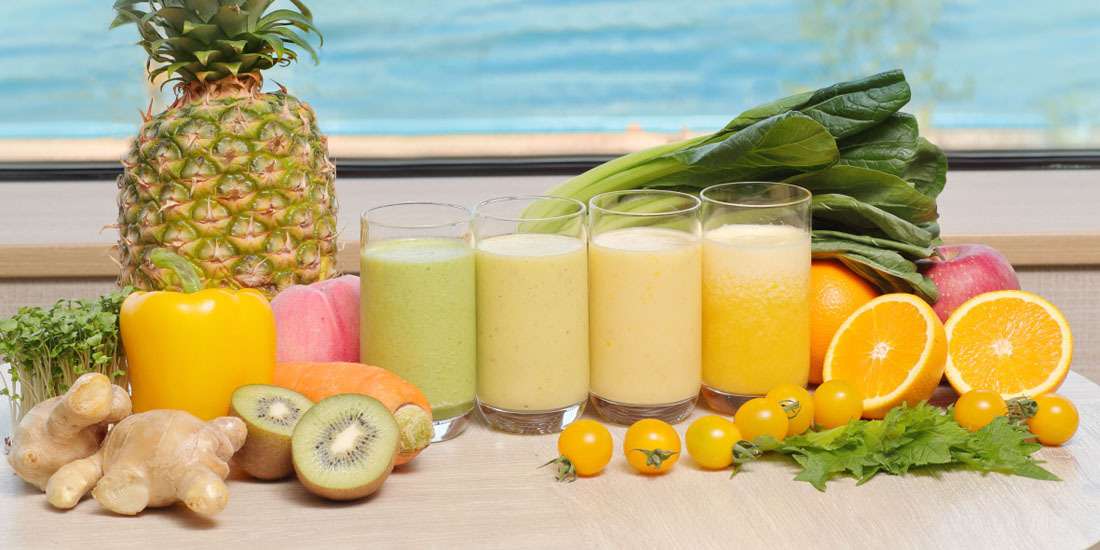 フレッシュフルーツと野菜のジュース(6~8月)