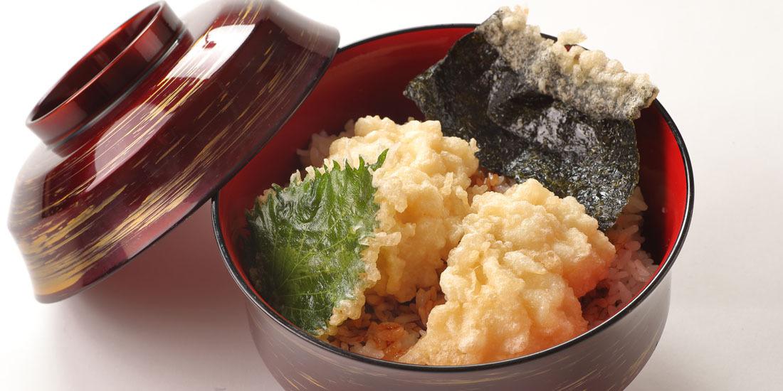 季節の期間限定メニュー「鱧天丼」
