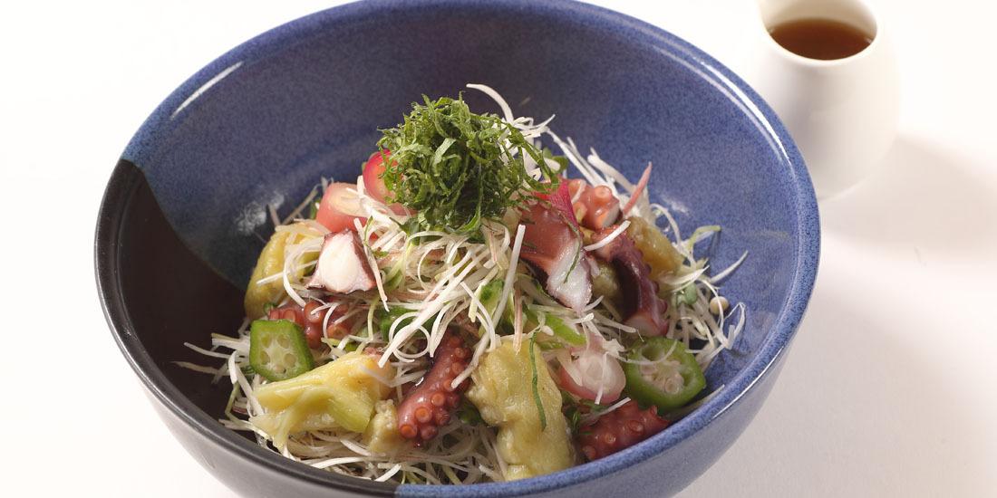 明石蛸と香味野菜のサラダ