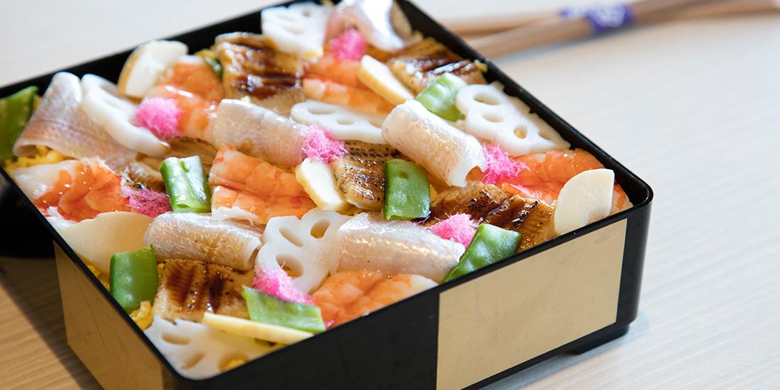 季節の期間限定メニュー「さくらちらし寿司」