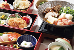 天然温泉と特別昼御膳のランチプラン【やすらぎプラン】