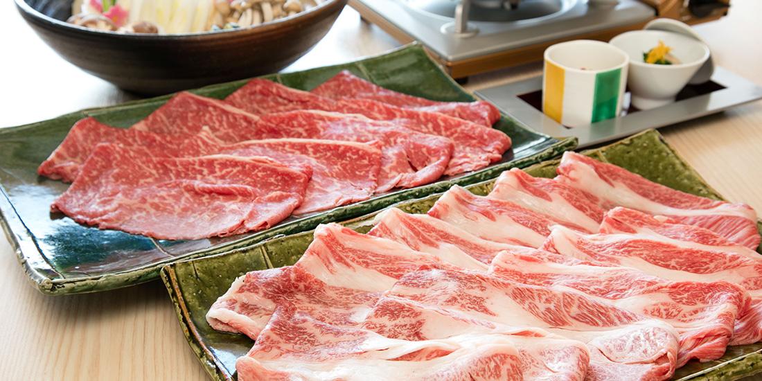 天然温泉とお鍋のボリューム満点プラン【神戸牛しゃぶしゃぶプラン】料理イメージ