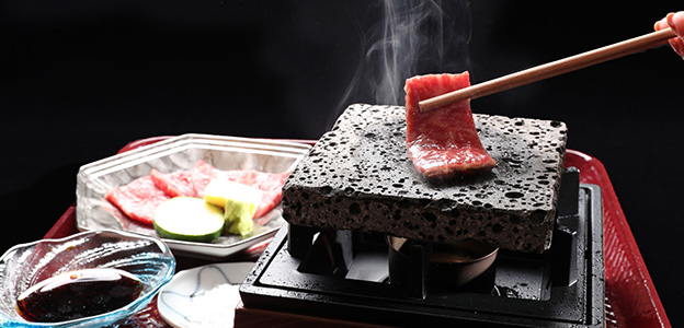 神戸ビーフの石焼き