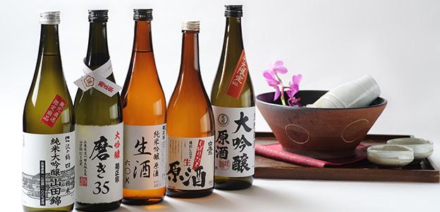 御食事処 水蓮の日本酒ラインナップ