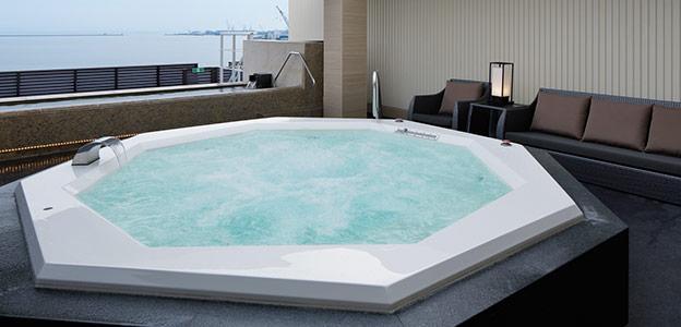展望大浴場の大きなジャグジー