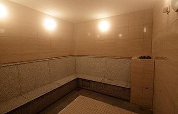 流水式アロマナノミストサウナの室内写真