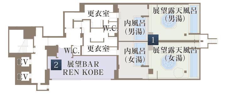 十階全体の見取り図