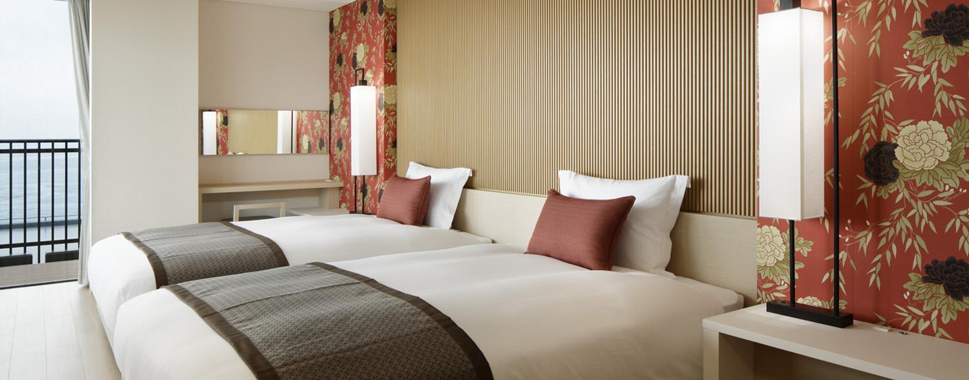 神戸みなと温泉 蓮の和モダン風旅館客室