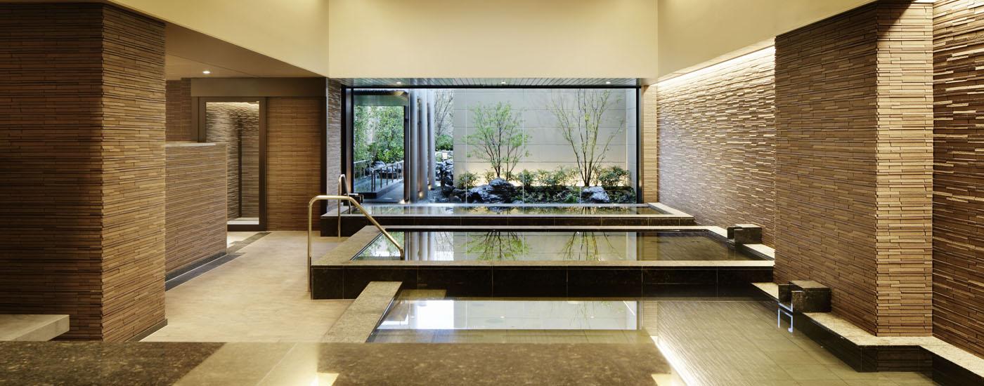 神戸みなと温泉 蓮の最上階にある宿泊者専用施設「展望大浴場」