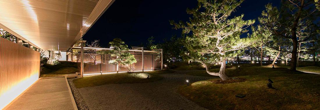 夜の日本庭園