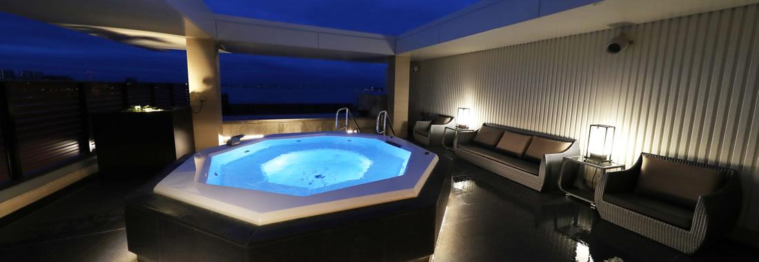 景色を一望できる展望露天風呂