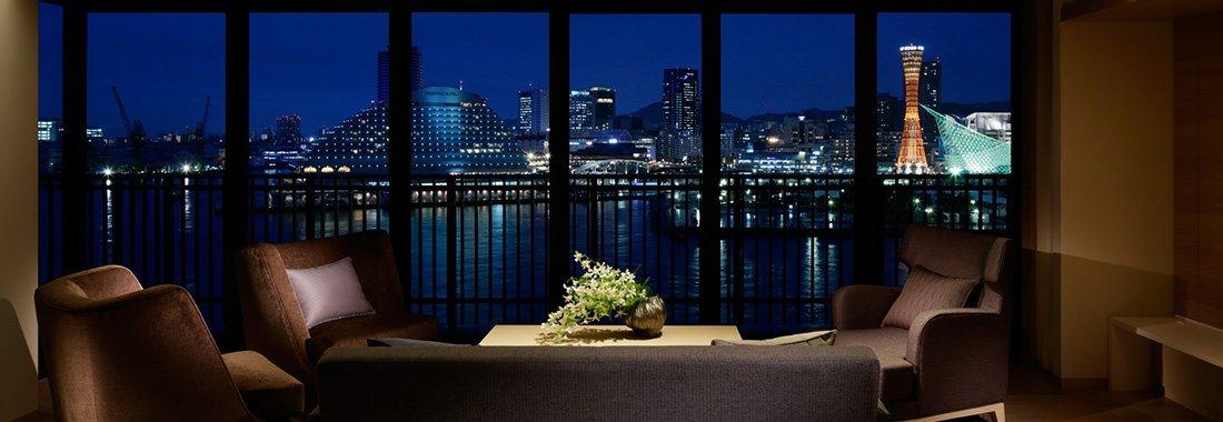 神戸みなと温泉 蓮の客室から見える景色