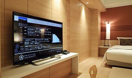 ビデオオンデマンド対応の大型テレビ